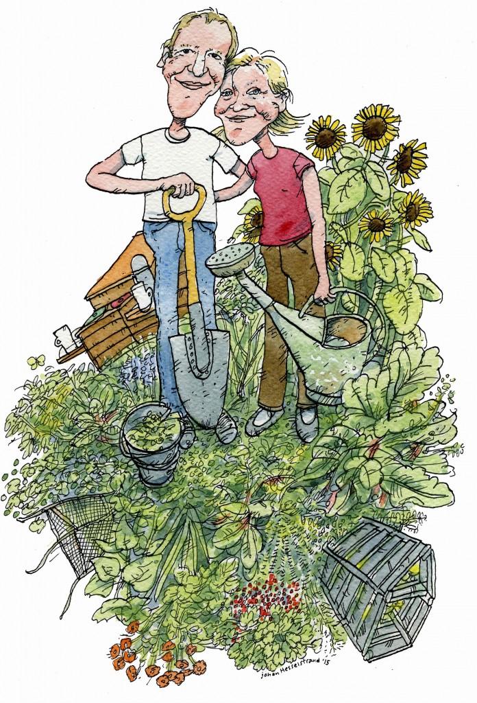 Karikatyr av Johan Hesselstrand - Om oss och våra miljötips