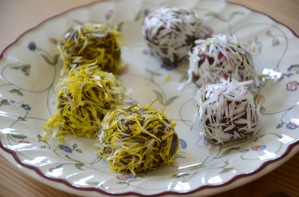 Ätliga blommor - blomsterbollar