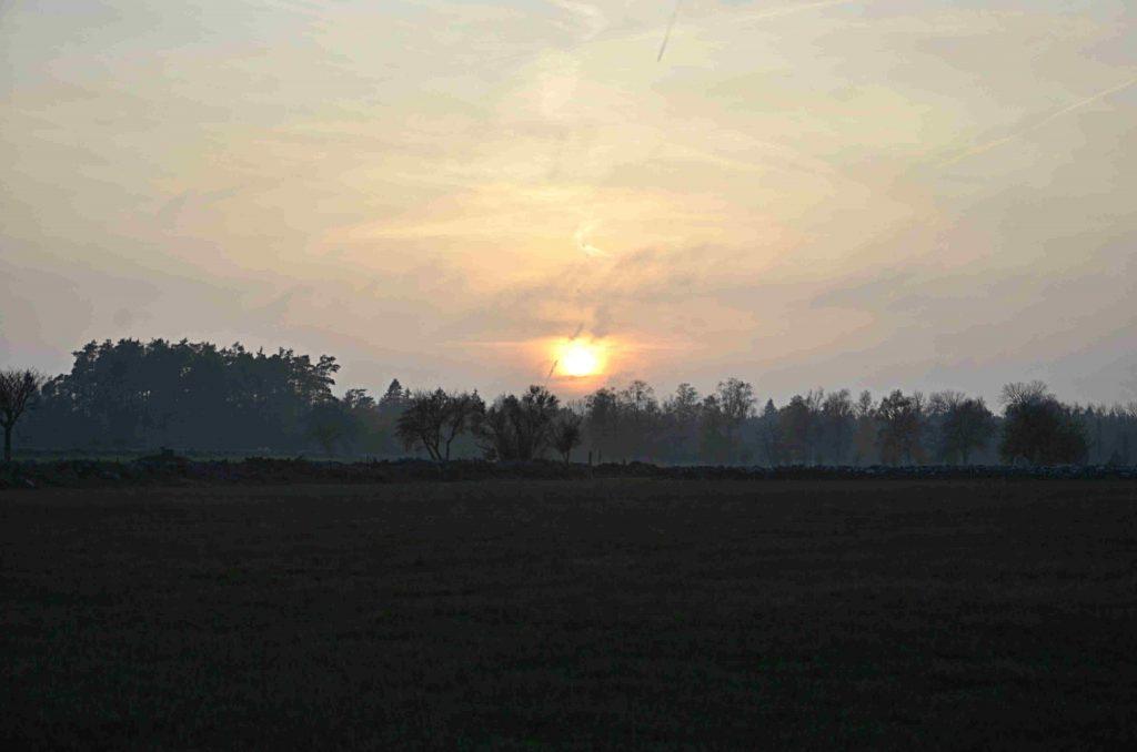 Nyårslöften och klimatföresats 2020. Bild på solnedgång.