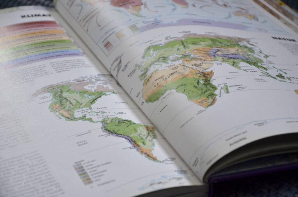Klimaträttvisa. Bild på världskarta.