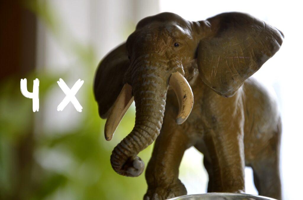 Att visualisera klimatavtryck. Bild på en elefant.
