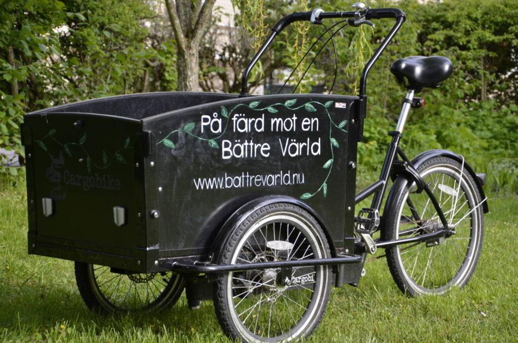 Starta lokal trend. Bild på lastcykel.